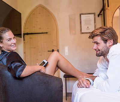 Paarurlaub, Zeit zu zweit, Junior Suite Dom Perignon, Klosterhotel, Hotel Arthus