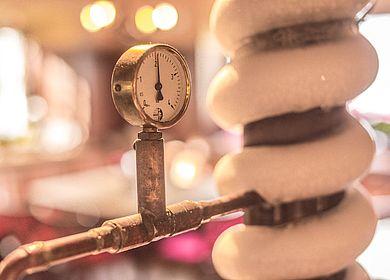 Wirtschaft Gasthaus zum Rad, Aulendorf, Detailaufnahme, Kühlung, Eis, Temperaturanzeige