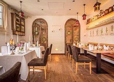 Gasthaus zum Rad, Refektorium Hotel Arthus, Aulendorf, Candle-Light-Dinner, Speisen