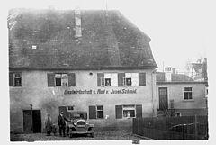 Gasthaus zum Rad im Jahr 1928, Hotel Arthus, Aulendorf