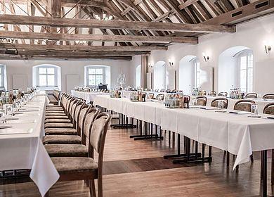 Tagen im Hofgartensaal, Aulendorf, Historische Kulisse