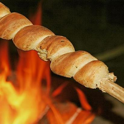 Stockbrot grillen, Hotel Arthus, Aulendorf, Empfang